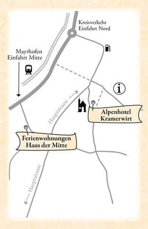 Lageplan Kramerwirt und Haus der Mitte